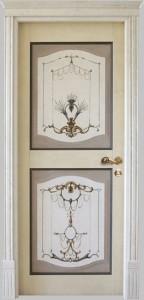door decorated solid wood kiev
