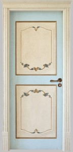 door pregious lacquered bordeaux